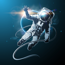 Astronaut In Space Sticker