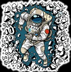 Astronaut Smashing Wall Sticker