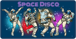 Astronaut Space Disco Party Sticker