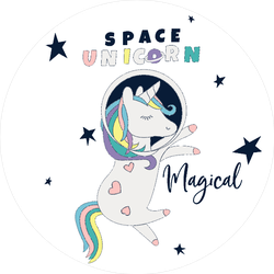 Astronaut Unicorn Sticker