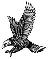 Attacking Eagle Tattoo Style Sticker