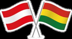 Austria And Bolivia Flags Sticker