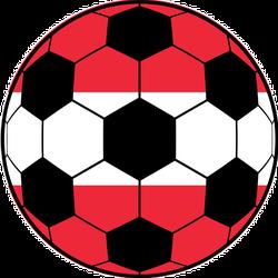 Austria Flag And Football Ball Sticker