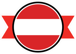Austria Flag Ribbon Emblem Sticker