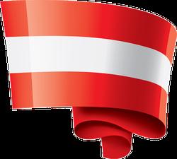 Austria Flag Swirl Sticker
