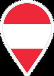Austria Flag Travel Pin Sticker