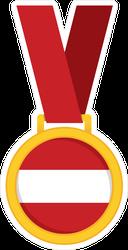 Austria National Flag Gold Medal Sticker