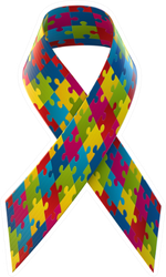 Autism Awareness Ribbon Sticker