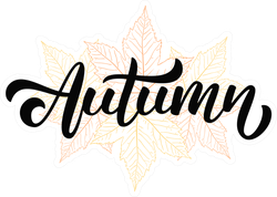 Autumn On Hand Drawn Fall Leaves Sticker