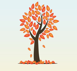 Autumn Season Tree Sticker