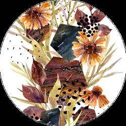 Autumn Watercolor Floral Arrangement Sticker