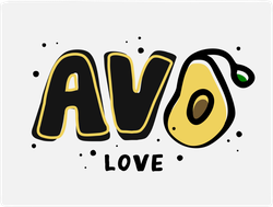 Avo Love Avocado Sticker