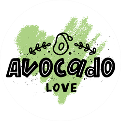Avocado Love Scribble Sticker