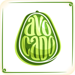 Avocado Typography Sticker