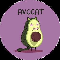 Avocat Avocado Sticker