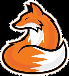 Awesome Fox Mascot Sticker
