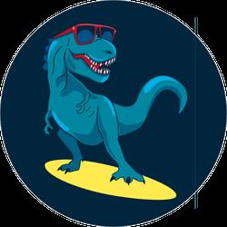 Awesome Surfing Dinosaur Sticker