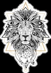 Aztec Style Lion Sticker
