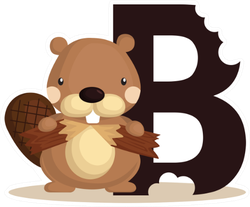 B For Beaver Sticker