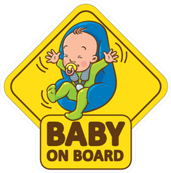 Baby Boy in Car Seat on Board