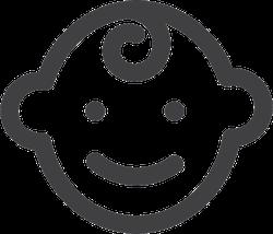 Baby Face Icon Sticker