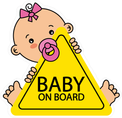 Baby Girl On Board Sticker