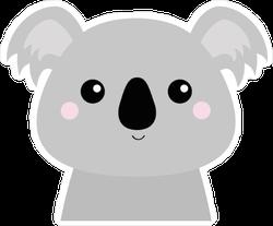 Baby Grey Koala Sticker