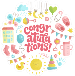 Baby Icons Congratulations Sticker