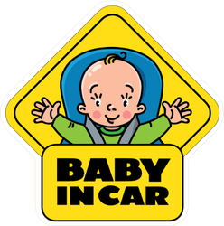 Baby In Car Seat on Board Sticker