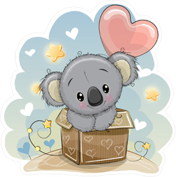 Baby Koala in Box Sticker