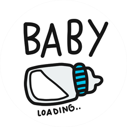 Baby Loading Sticker