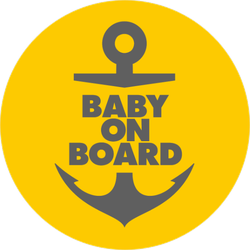 Baby On Board Anchor Sticker