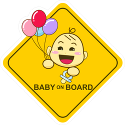 Baby on Board Balloon Sticker