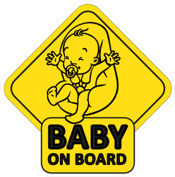 Baby On Board Line Art Sticker