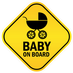Baby On Board Rounded Square Sticker