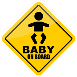 Baby On Board Silhouette Sticker