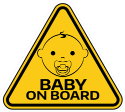 Baby on Board Triangle Sticker