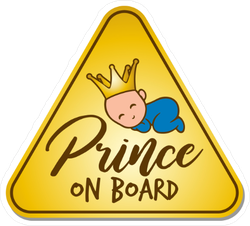 Baby Prince on Board Sticker