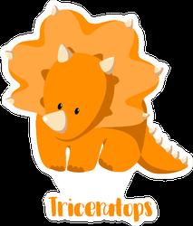 Baby Triceratops Sticker