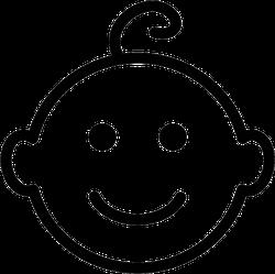 Baby Vector Line Icon Sticker