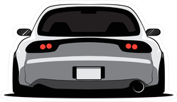 Back View Cartoon JDM Car Sticker
