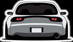 Back View Cartoon JDM Car Sticker