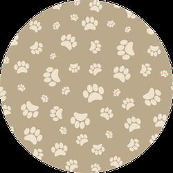 Background Animal Footprints Tan Sticker
