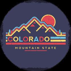Background Of Colorado Mountain State Sticker