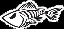 Badass Fish Skeleton Sticker