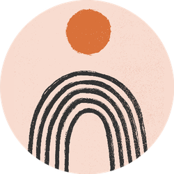 Balance Shapes Rainbow And Sun Boho Sticker