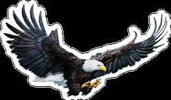 Bald Eagle Digital Painting Sticker