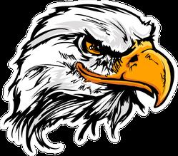 Bald Eagle Head Mascot Sticker