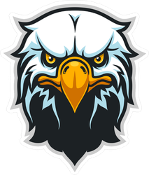 Bald Eagle Head Sports Mascot Sticker