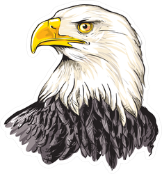 Bald Eagle Head Sticker